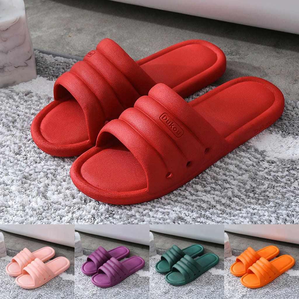 PVC kadın ayakkabı yaz terlik kalın alt banyo terliği kama kum plaj Flip-flop bayanlar renkli yüksek topuklu terlik