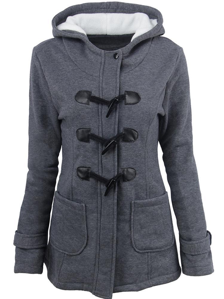 Fitaylor 2020 New Autumn Women Hooded Cotton Slim Fit Long Coat Casual Female Streetwear Single Breasted Zipper Jacket Outwear Women Women's Clothings Women's Sweaters/Coat cb5feb1b7314637725a2e7: Brown|Coffee|Dark Grey