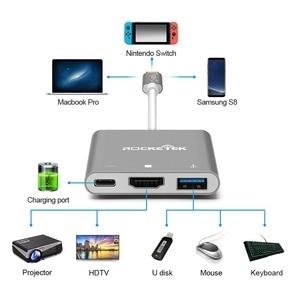 Image 5 - Rocketek xách tay Dock USB C Type C đến HDMI Hub Chuyển đổi 4K HD Chuyển cho Nintend Chuyển NS / Samsung S8 / Mac Pro