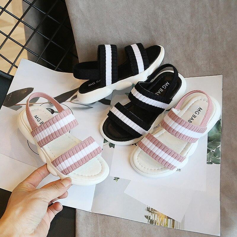 Girls Toddler Sandals Summer Soft Bottom Beach Shoes Children Casual Flat Shoes