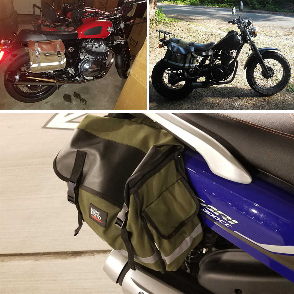 KEMiMOTO รถจักรยานยนต์กระเป๋า Saddlebag กระเป๋าเดินทางกระเป๋าเดินทาง Knight Rider สำหรับสำหรับการเดินทางสำหรับ Triumph Bonneville สำหรับ Honda Shadow