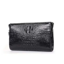 mafeimengge Thailand crocodile leather men clutch bag male business large capacity leisure crocodile leather men bag