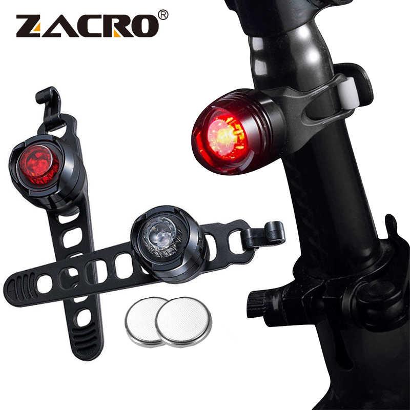 1Pcs MTB Bike Cycling Front Rear Safety Warning Lamp Red//White Light Lamp US