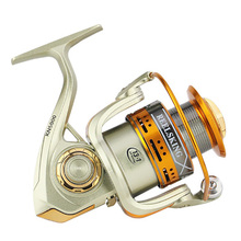 Hemer 2000 3000 4000 5000 6000 7000 Fishing Reels Metal Seat Spinning Fishing 5.2:1 Reel Fake Bait 10BB Carp Reel for River Lake цена 2017