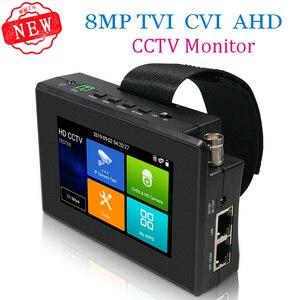 Тестер для камер, 5 дюймов, 4K, H265, H264, IP, 8 Мп, AHD/TVI / CVI CVBS, CCTV, монитор, PTZ контроллер, быстрый ONVIF, IPC тестер с портом POE