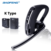 Auriculares Baofeng Walkie Talkie auriculares PTT inalámbricos Bluetooth para Radio de dos vías puerto K auriculares inalámbricos para UV 5R 82 8 W 888 s