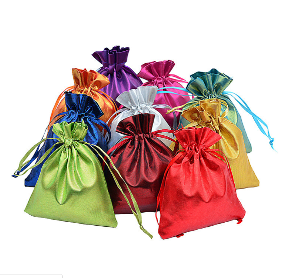 50pcs/lot Satin Cotton Bag Drawstring Bag Wedding Favor Gift Bags Baby Shower Cosmetics Jewelry Bundle Bags