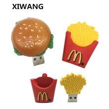USB Flash Drive pen drive creative 4GB 8GB 16GB 32GB 64GB pendrive 128gb Cartoon fries burger usb stick 2.0 hamburger free ship