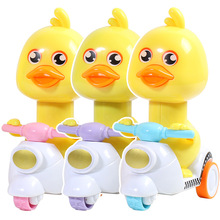 Children's toy cartoon push the little yellow duck pull back toy car boy kid toy
