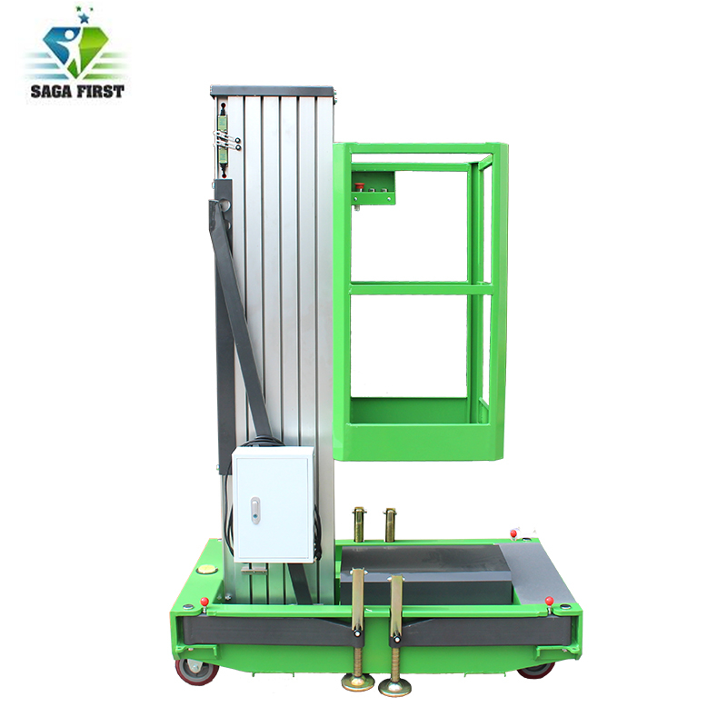 Mobile Hydraulic Single Post Platform Lift For Indoor And Outdoor