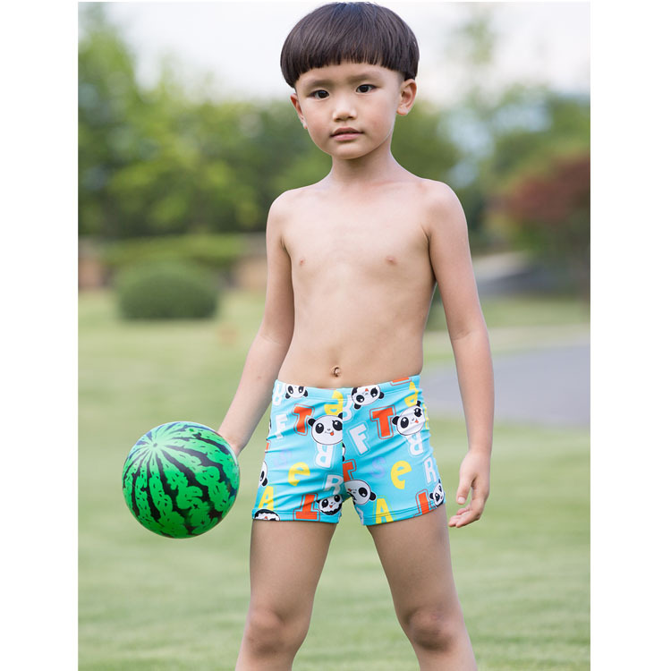 2019 New Style Children Swimming Trunks CHILDREN'S Middle Beach Pants Cute Cartoon Soft And Comfortable