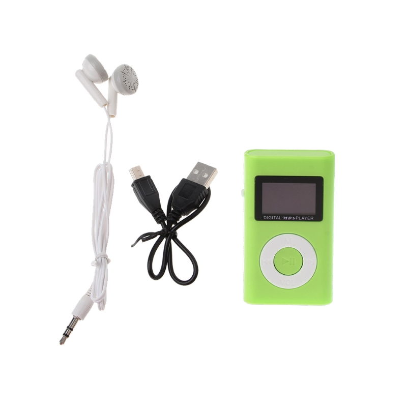 MX-809 Mini USB Support 32GB Micro SD TF Card LCD Screen Music Digital MP3 Player