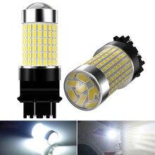 2X światła cofania tylne światło żarówka LED Auto 3157 P27/7W T25 dla Peugeot 206 406 508 307 406 3008 światła samochodowe Led 6000K biały 12V