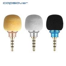Capsaver Mini mikrofon cep telefonu Smartphone için taşınabilir kablosuz mikrofon küçük mikrofon Android telefon için 3.5mm Jack