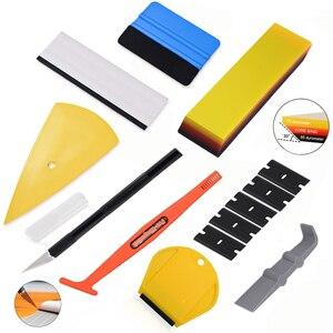 Image 1 - Набор инструментов FOSHIO для тонирования оконной пленки, виниловые автомобильные наклейки, набор инструментов, автомобильные аксессуары, скребок для тонировки из углеродистой фольги