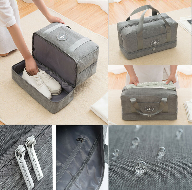 Bag With Compartment For Shoes Travel Bag Dry And Wet Separation Large Capacity