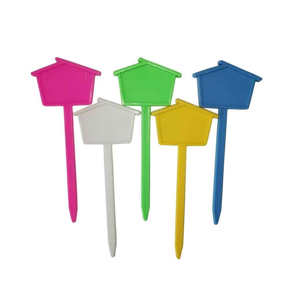 Etiquetas de plástico para plantas, etiquetas de decoração de plantas em vaso, placa de flor para casa, bandeja de mudas do berçário com 10 peças