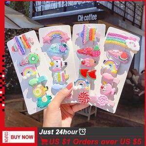 Baby Fruit Animal Hairpin Hair Accessories for Women Girls 2/5/8/12pcs/lot Hair Clips & Pins Fashion Korean Barrettes Headband