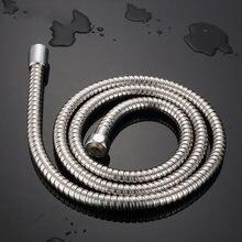 Manguera de ducha Flexible de acero inoxidable, 1m/1,2 m/1,5/2m de largo, extensión de manguera de agua para ducha de baño, tubo de resorte de tracción para fontanería