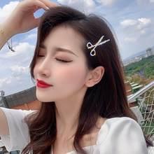 Nowe mody biżuteria do włosów Rhinestone nożyczki boczny zacisk nakrycia głowy włosy dziewczyna ślubne akcesoria do włosów kobiety Bijoux szpilki do włosów