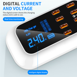 Image 3 - KSTUCNE 8 ポート USB PD 充電器ハブ急速充電 3.0 Led ディスプレイ USB 充電ステーション携帯電話デスクトップの壁ホーム EU プラグ