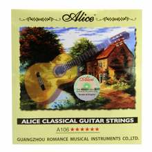NEW Alice Classical Guitar Strings A106 Clear Nylon Strings
