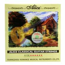 Nova alice cordas de guitarra clássica a106 limpar cordas de náilon