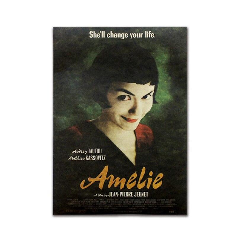 Amelie Decor Vintage Kraft Paper Classic Movie Poster Map School Wall Office Decoration Art Retro Prints