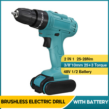 Tools-Set Hammer-Screwdriver Electric-Drill Battey Cordless Impact 3-Turque-Power-Driver