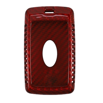 Red Real Carbon Fiber Case Remote Fob Key Cover Fit for LAND RANGE ROVER New 2018-19 Smart Key Fob Remote
