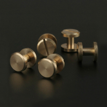 20pcs Solid Brass Binding Chicago Screws Nail Stud Rivets For Photo Album Leather Craft Studs Belt Wallet Fasteners 8mm Flat Cap