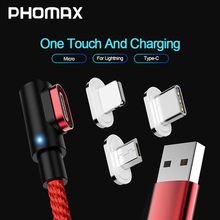 PHOMAX  Magnetic Cable Micro usb Type C Fast Charging Adapter Phone Microusb Type-C Magnet Charger c For iphone Samsung S8 9