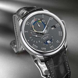 Borman-reloj mecánico clásico para hombre, reloj masculino de pulsera, resistente al agua, con piel de cocodrilo