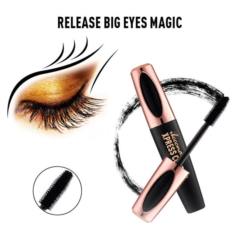 1PC New 4D Silk Fiber Lash Mascara Waterproof Rimel 3d Mascara For Eyelash Extension Black Thick Lengthening Eye Lashes Cosmetic