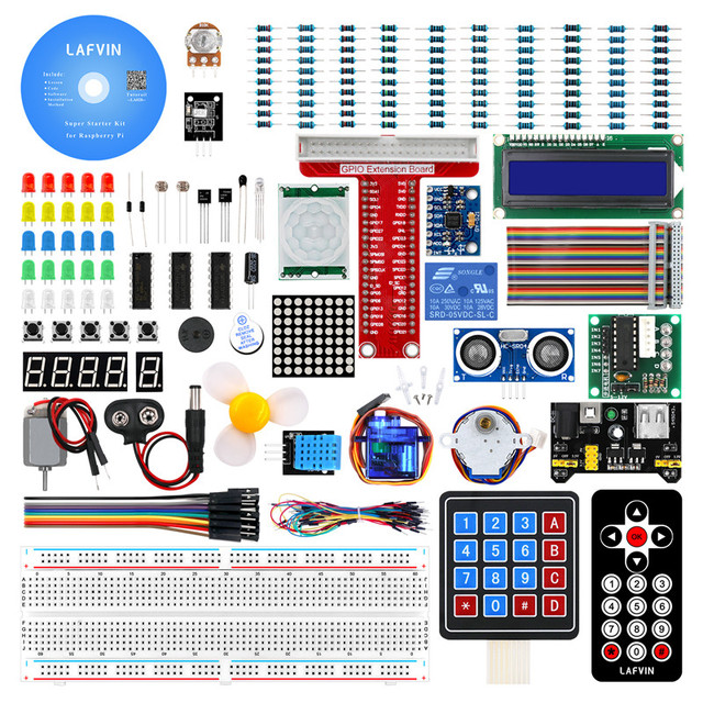 LAFVIN Super Starter Kit für Raspberry Pi, modell 3B + 3B 3A + 2B 1B + 1A + Null W + Diy Kit