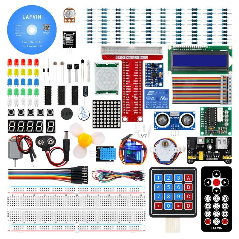 Lafvin super starter kit para raspberry pi, modelo 3b + 3b 3a 2b 1b 1a zero w kit diy