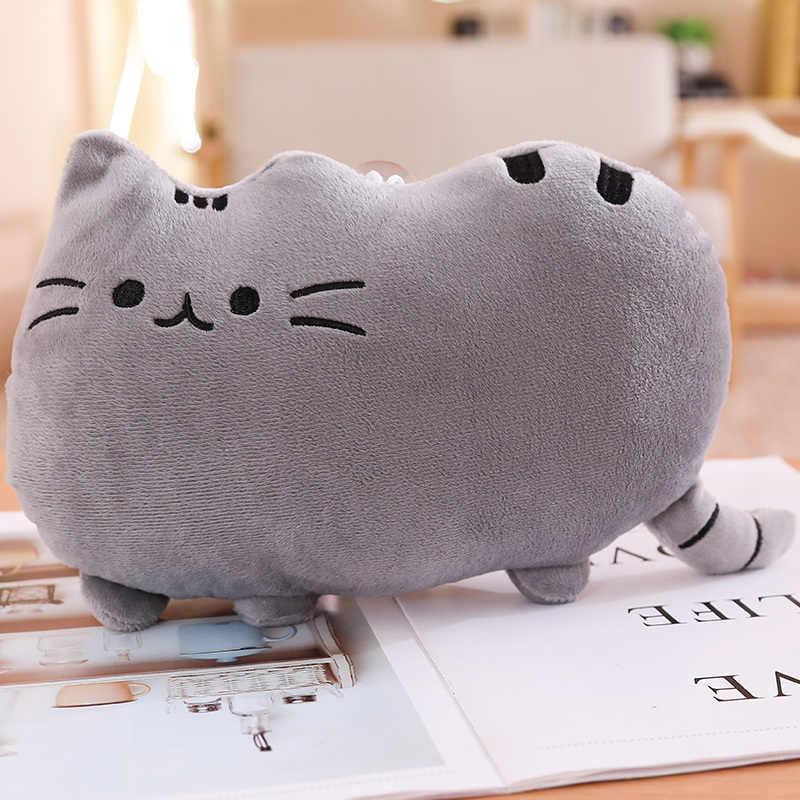 25 centímetros Kawaii Biscoitos de Gato Travesseiro Com Zíper Único Pele Sem Algodão PP Brinquedos Boneca Animal de Pelúcia Grande Capa de Almofada peluche Presente