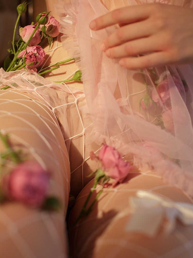 Śliczne księżniczka koszula nocna Lolita Kawaii koszule nocne seksowna koronkowa gaza bielizna sukienka do spania kobiety bielizna nocna koszula nocna młoda dziewczyna