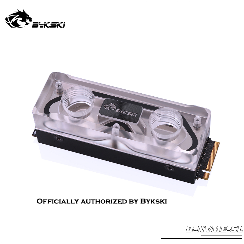 Bykski B-NVME-SL RAM Water Block Acrylic SSD Vest Memory Transperant Radiator Heatsink Water Cooling PC  Radiator