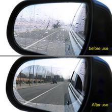 2 шт. 15*10 см Автомобильная непромокаемая противотуманная пленка, защитное зеркало заднего вида, Прозрачная Фольга, авто анти туман, пленка на окно