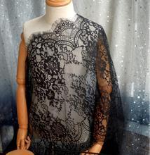 1Meter 42cm Width Lingerie Lace Fabric Trim White Black For Bridal Gown women's Dress Clothes Underwear Sewing Materials LA152