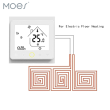 Thermostat Temperature Controller LCD Touch Screen Backlight Warm Floor Electric Underfloor Heating 16A Weekly Programmable weekly programing floor heating temperature controller thermostat regulator ac 230v lcd backlight