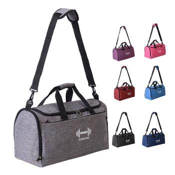 Male Men Travel Bag Folding Bag Protable Molle Women Tote Waterproof Nylon Casual Travel Gym Duffel Bag Black luggage janeke black quilted travel bag medium