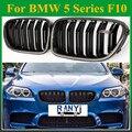 Сделано в Тайване  углеродное волокно  M5  передняя решетка для гриля в почках  для BMW 5 серии F10 sedan 2010 + 520i 525i 530i 535i