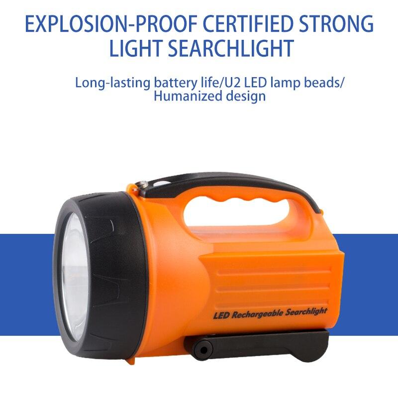 Lampe de poche LED forte et étanche, projecteur latéral rechargeable, pour la marche, le camping, lentretien, etc.