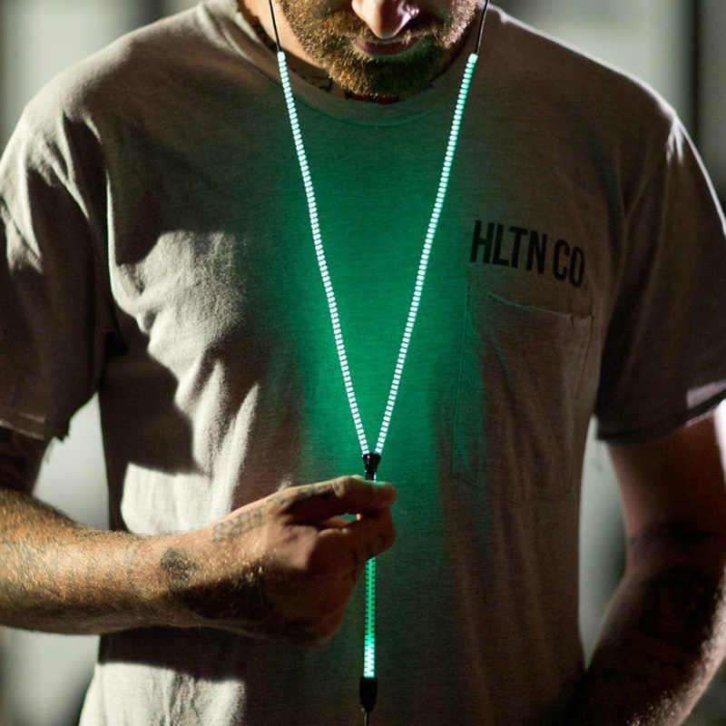 Glow In The Dark Auricolari Auricolari In Metallo Con Il Mic Incandescente Della Chiusura Lampo Verde Blu Auricolare di Colore Luminoso di Illuminazione Stereo