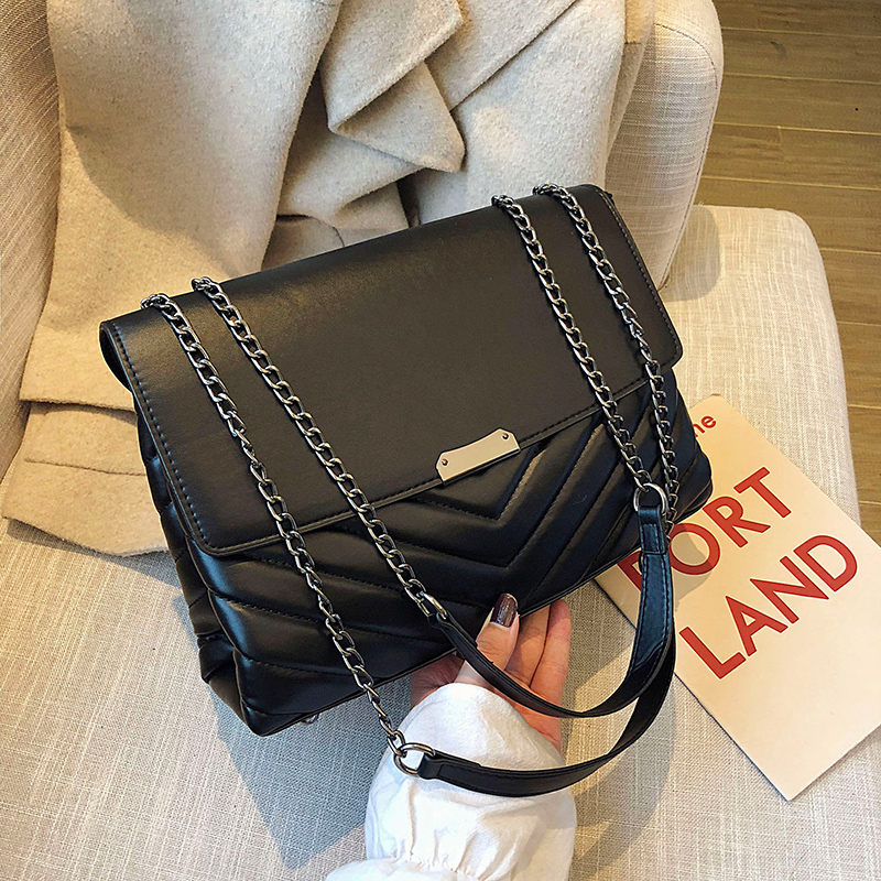 European Fashion Female Tote Bag 2019 New Quality PU Leather Women's Designer Handbag Lock High Capacity Shoulder Messenger Bag