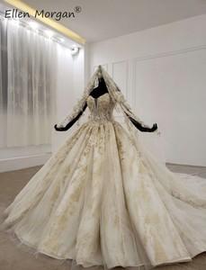Image 3 - ปิดไหล่Gownsชุดแต่งงาน 2020 ซาอุดีอาระเบียความยาวเม็กซิกันVestido Novia Elegantชุดเจ้าสาวพร้อมVeils