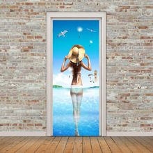 3D Self Adhesive Door Stickers PVC Stickers Sexy Beauty Back Wall Stickers Bedroom Living Room Decoration Waterproof Stickers