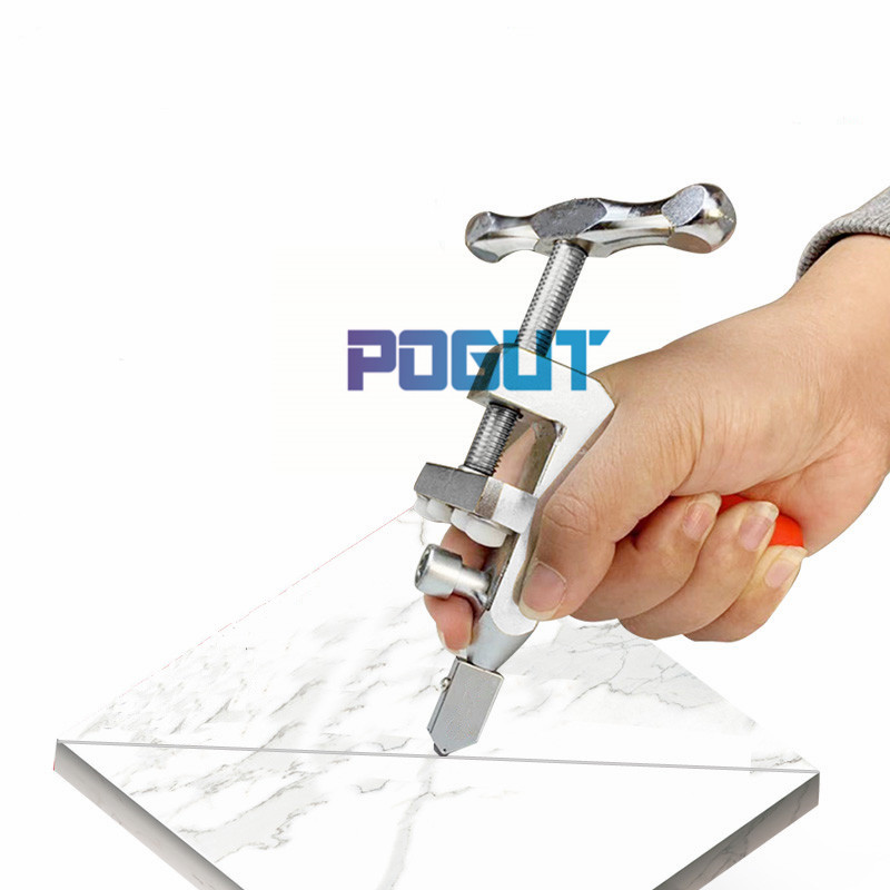 POGUT Multifunctional Tool 2 In 1 New Glass Tile Cutter Cutting Breaking Pliers Suitable For 2-15mm